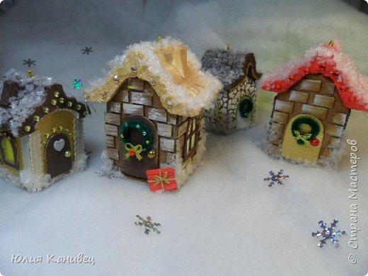 Мастер-класс Поделка изделие Новый год Моделирование конструирование Новогодние домики Картон фото 31
