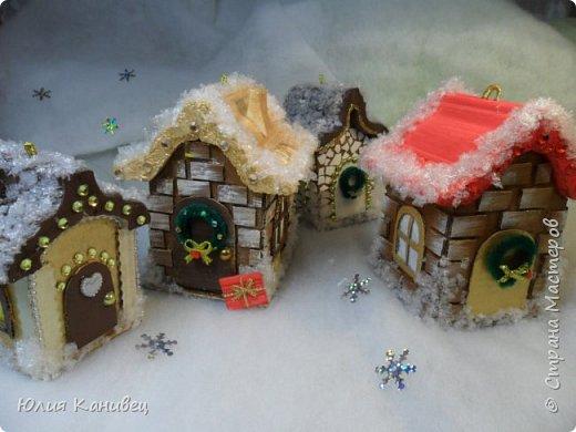 Мастер-класс Поделка изделие Новый год Моделирование конструирование Новогодние домики фото 1