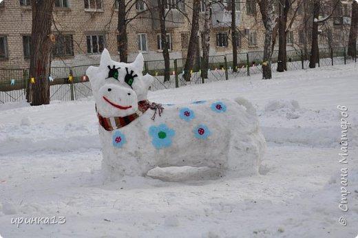 Снежные фигуры на новый год своими руками 901