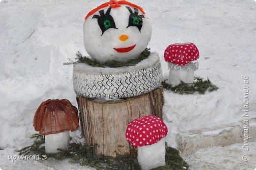 Снежные фигуры на новый год своими руками 598