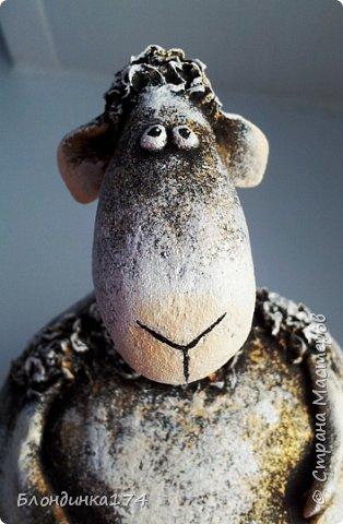 Привет, мои дорогие!!! Моя сестренка, попросила на Новый год подарочек. Сделала я ей овечку - копилку. Расскажу вам и покажу, как у меня получился вот такой пузатик:))) фото 2
