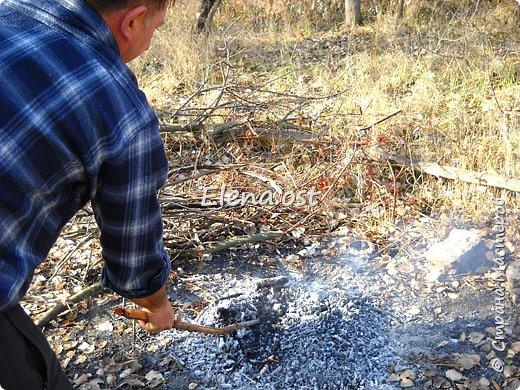 Тыква хороша и вкусна в любом виде. Решила попробовать приготовить еще и в углях. Идем на природу, любуемся осенью и конечно же балуем себя вкусными блюдами, приготовленными на костре.  фото 3