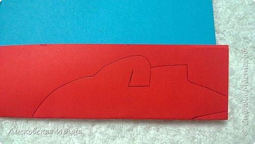 Мастер-класс Открытка Новый год Вырезание Киригами pop-up Два Мороза Бумага фото 6