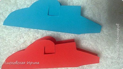 Мастер-класс Открытка Новый год Вырезание Киригами pop-up Два Мороза Бумага фото 8