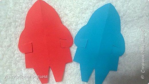 Мастер-класс Открытка Новый год Вырезание Киригами pop-up Два Мороза Бумага фото 9