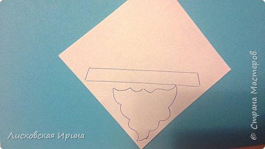 Мастер-класс Открытка Новый год Вырезание Киригами pop-up Два Мороза Бумага фото 13