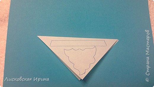 Мастер-класс Открытка Новый год Вырезание Киригами pop-up Два Мороза Бумага фото 14