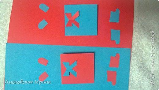 Мастер-класс Открытка Новый год Вырезание Киригами pop-up Два Мороза Бумага фото 17