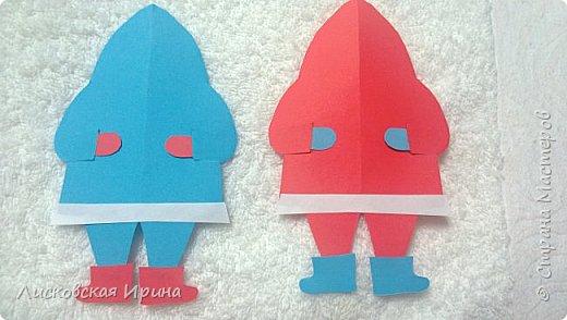 Мастер-класс Открытка Новый год Вырезание Киригами pop-up Два Мороза Бумага фото 18