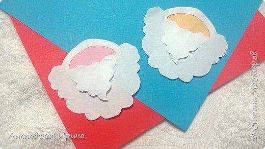 Мастер-класс Открытка Новый год Вырезание Киригами pop-up Два Мороза Бумага фото 20
