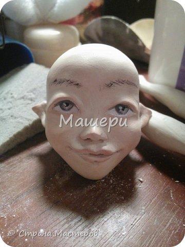 Куклы Мастер-класс Лепка Папье-маше Голова куклы из папье-маше и керапласта Бумага газетная Глина Клей Пластилин фото 29