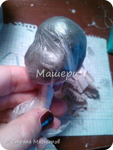 Куклы Мастер-класс Лепка Папье-маше Голова куклы из папье-маше и керапласта Бумага газетная Глина Клей Пластилин фото 6