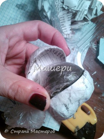 Куклы Мастер-класс Лепка Папье-маше Голова куклы из папье-маше и керапласта Бумага газетная Глина Клей Пластилин фото 10