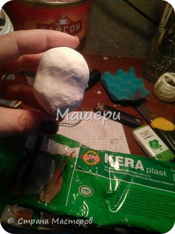 Куклы Мастер-класс Лепка Папье-маше Голова куклы из папье-маше и керапласта Бумага газетная Глина Клей Пластилин фото 14