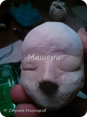 Куклы Мастер-класс Лепка Папье-маше Голова куклы из папье-маше и керапласта Бумага газетная Глина Клей Пластилин фото 17