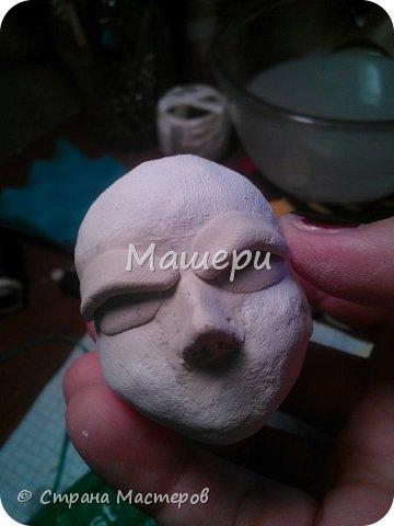 Куклы Мастер-класс Лепка Папье-маше Голова куклы из папье-маше и керапласта Бумага газетная Глина Клей Пластилин фото 18
