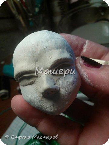 Куклы Мастер-класс Лепка Папье-маше Голова куклы из папье-маше и керапласта Бумага газетная Глина Клей Пластилин фото 19
