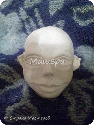 Куклы Мастер-класс Лепка Папье-маше Голова куклы из папье-маше и керапласта Бумага газетная Глина Клей Пластилин фото 24