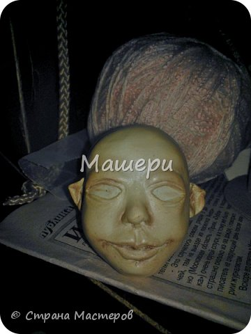 Куклы Мастер-класс Лепка Папье-маше Голова куклы из папье-маше и керапласта Бумага газетная Глина Клей Пластилин фото 27