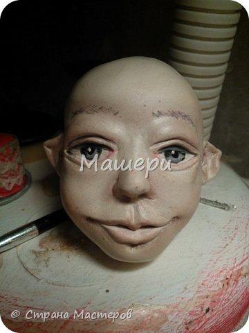 Куклы Мастер-класс Лепка Папье-маше Голова куклы из папье-маше и керапласта Бумага газетная Глина Клей Пластилин фото 28