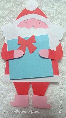 Мастер-класс Открытка Новый год Вырезание Киригами pop-up Два Мороза Бумага фото 24