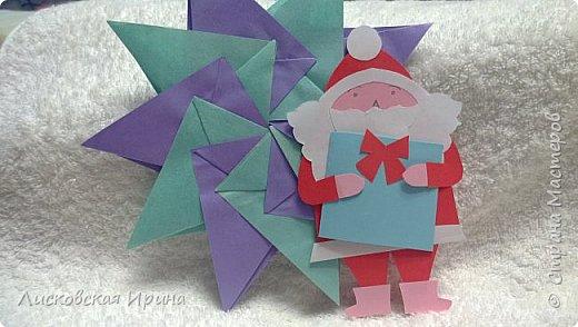 Мастер-класс Открытка Новый год Вырезание Киригами pop-up Два Мороза Бумага фото 25
