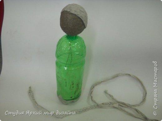 Куклы Мастер-класс Новый год Моделирование конструирование Ангел Бумага гофрированная Бутылки пластиковые Картон Проволока фото 4