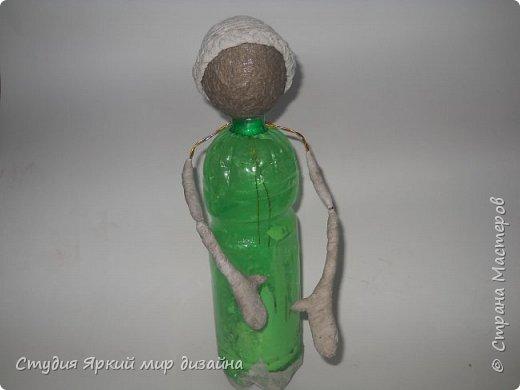 Куклы Мастер-класс Новый год Моделирование конструирование Ангел Бумага гофрированная Бутылки пластиковые Картон Проволока фото 5