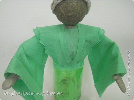 Куклы Мастер-класс Новый год Моделирование конструирование Ангел Бумага гофрированная Бутылки пластиковые Картон Проволока фото 11