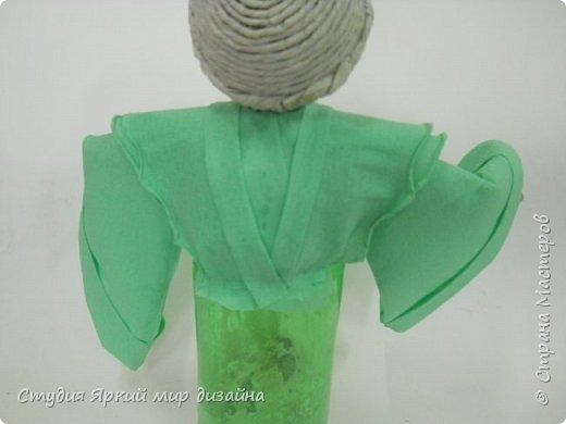 Куклы Мастер-класс Новый год Моделирование конструирование Ангел Бумага гофрированная Бутылки пластиковые Картон Проволока фото 12
