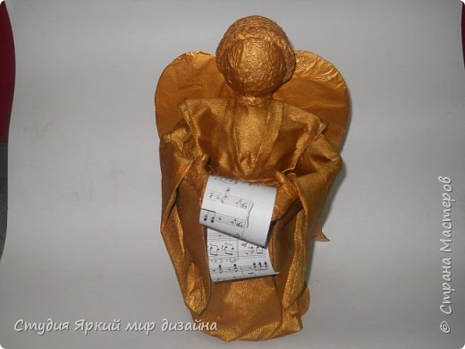 Куклы Мастер-класс Новый год Моделирование конструирование Ангел Бумага гофрированная Бутылки пластиковые Картон Проволока фото 18