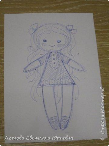 Куклы Мастер-класс Шитьё Мастер - класс по изготовлению куколок с волосами из непряденой шерсти Ткань Шерсть фото 2