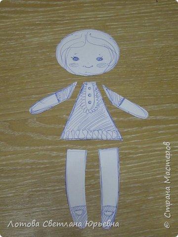 Куклы Мастер-класс Шитьё Мастер - класс по изготовлению куколок с волосами из непряденой шерсти Ткань Шерсть фото 3