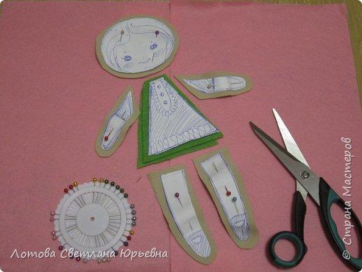 Куклы Мастер-класс Шитьё Мастер - класс по изготовлению куколок с волосами из непряденой шерсти Ткань Шерсть фото 5
