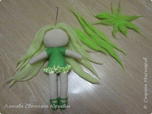 Куклы Мастер-класс Шитьё Мастер - класс по изготовлению куколок с волосами из непряденой шерсти Ткань Шерсть фото 12