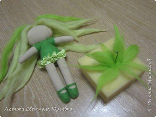 Куклы Мастер-класс Шитьё Мастер - класс по изготовлению куколок с волосами из непряденой шерсти Ткань Шерсть фото 13