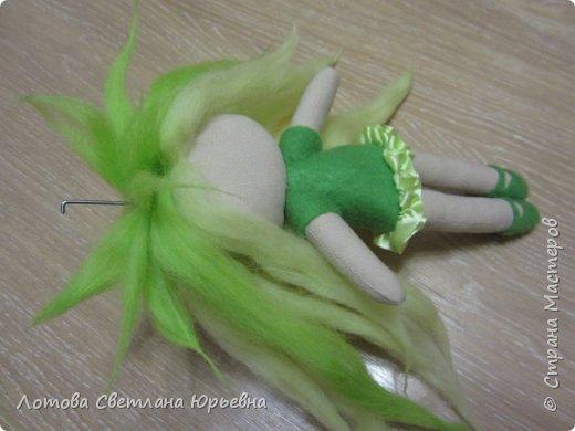 Куклы Мастер-класс Шитьё Мастер - класс по изготовлению куколок с волосами из непряденой шерсти Ткань Шерсть фото 14