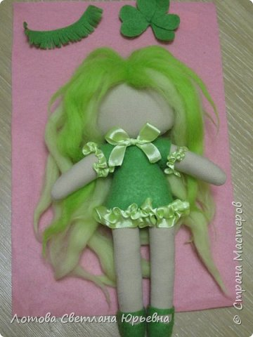 Куклы Мастер-класс Шитьё Мастер - класс по изготовлению куколок с волосами из непряденой шерсти Ткань Шерсть фото 15