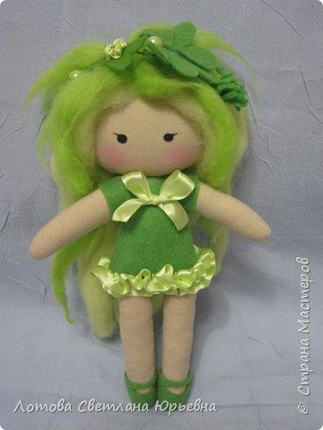 Куклы Мастер-класс Шитьё Мастер - класс по изготовлению куколок с волосами из непряденой шерсти Ткань Шерсть фото 1