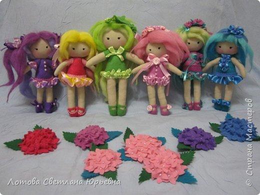 Куклы Мастер-класс Шитьё Мастер - класс по изготовлению куколок с волосами из непряденой шерсти Ткань Шерсть фото 18