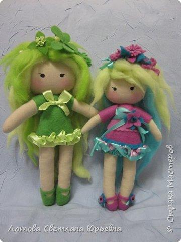 Куклы Мастер-класс Шитьё Мастер - класс по изготовлению куколок с волосами из непряденой шерсти Ткань Шерсть фото 16