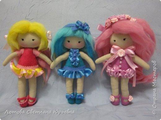 Куклы Мастер-класс Шитьё Мастер - класс по изготовлению куколок с волосами из непряденой шерсти Ткань Шерсть фото 17