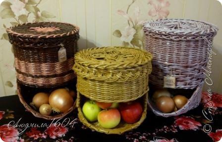 """Сплела луковые """"домики"""", а внук сказал, что в них и яблоки положить можно. Я так и сделала. Что получилось  - судить вам."""