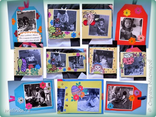 В прошлом году я делала выпускные альбомы деткам, которые покидают садик посмотрите, что у меня получилось фото 31
