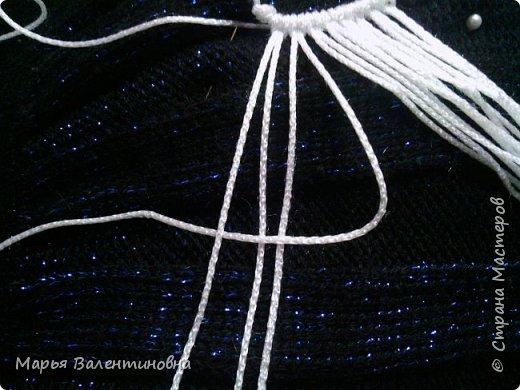 Мастер-класс Украшение Макраме Моя версия кулона * Совенок * Булавка английская Бусины Сутаж тесьма шнур фото 7