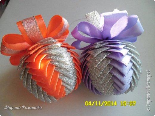 Вот такие шарики у меня сотворились к Новому году фото 1