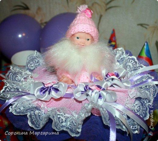 Любимой внученьке Диане исполнился годик, в дополнение к основному подарку сделала маленький букетик из игрушки. фото 2