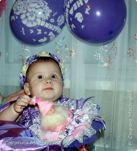 Любимой внученьке Диане исполнился годик, в дополнение к основному подарку сделала маленький букетик из игрушки. фото 1