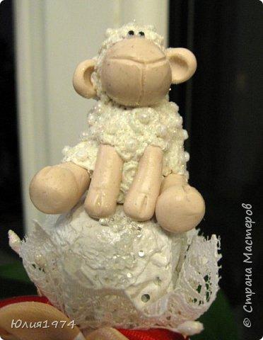 Новая овечка готова! Очень не люблю делать повтор своих работ, по-этому решила новую овечку сделать в красном цвете. фото 4
