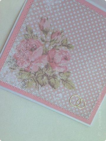 Все чаще я стала делать свадебные открытки:)  фото 7